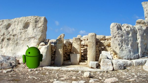 The Android robot on Malta.