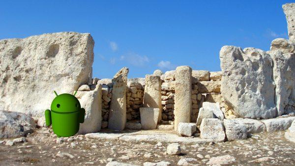 The Android robot on Malta.