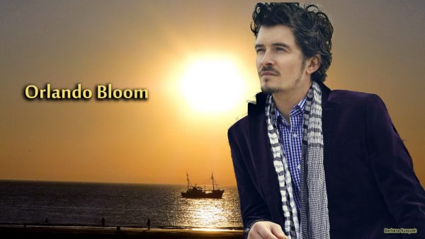 Wallpaper Orlando Bloom at sunset