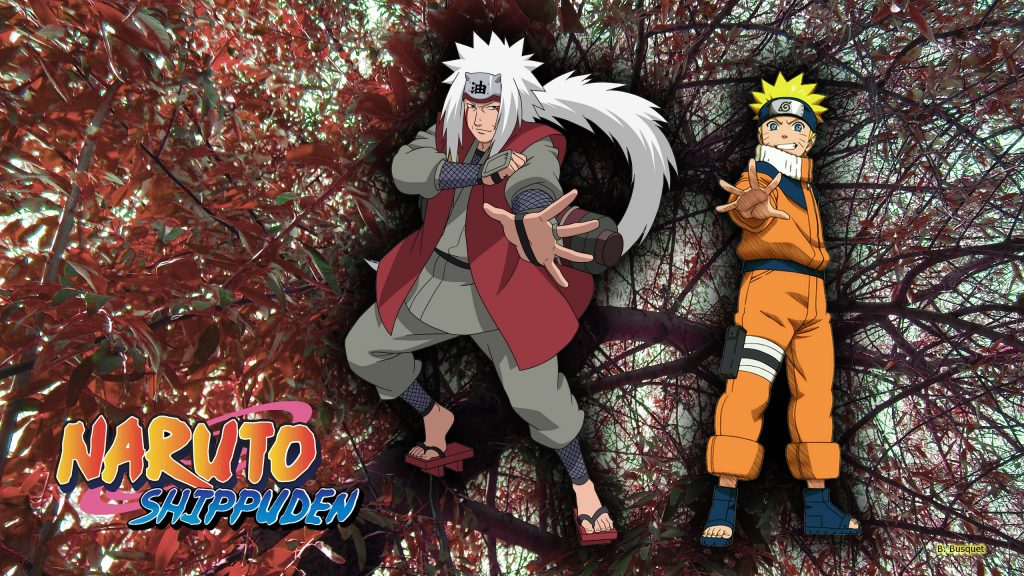 Naruto Shippuden wallpaper with jiraiya and Naruto