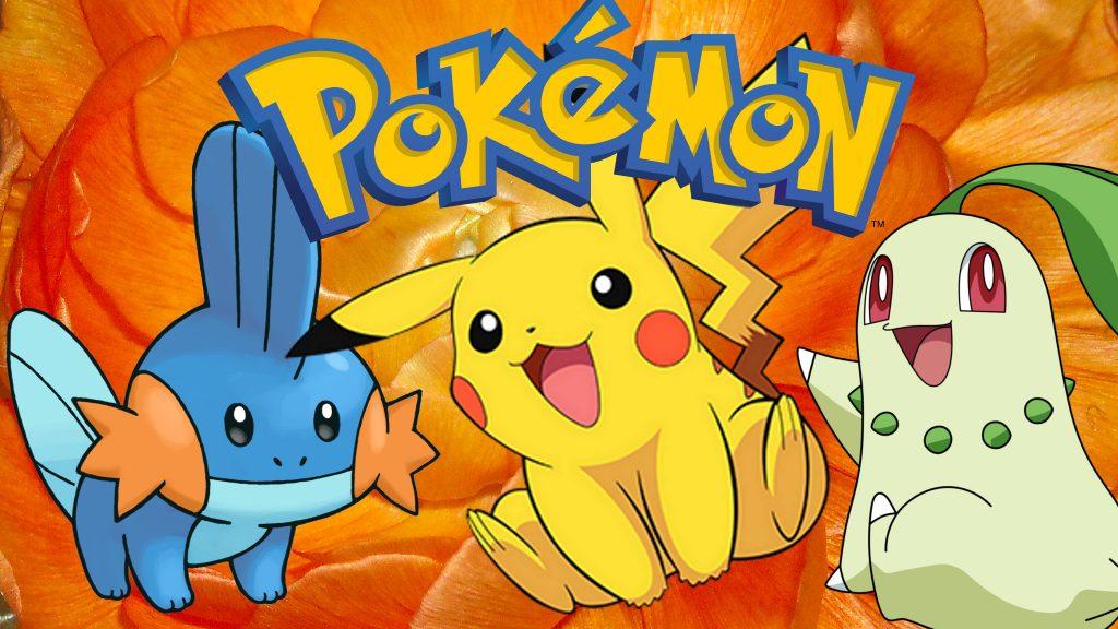 Pokemon wallpaper with Mudkip Pikachu and Chikorita