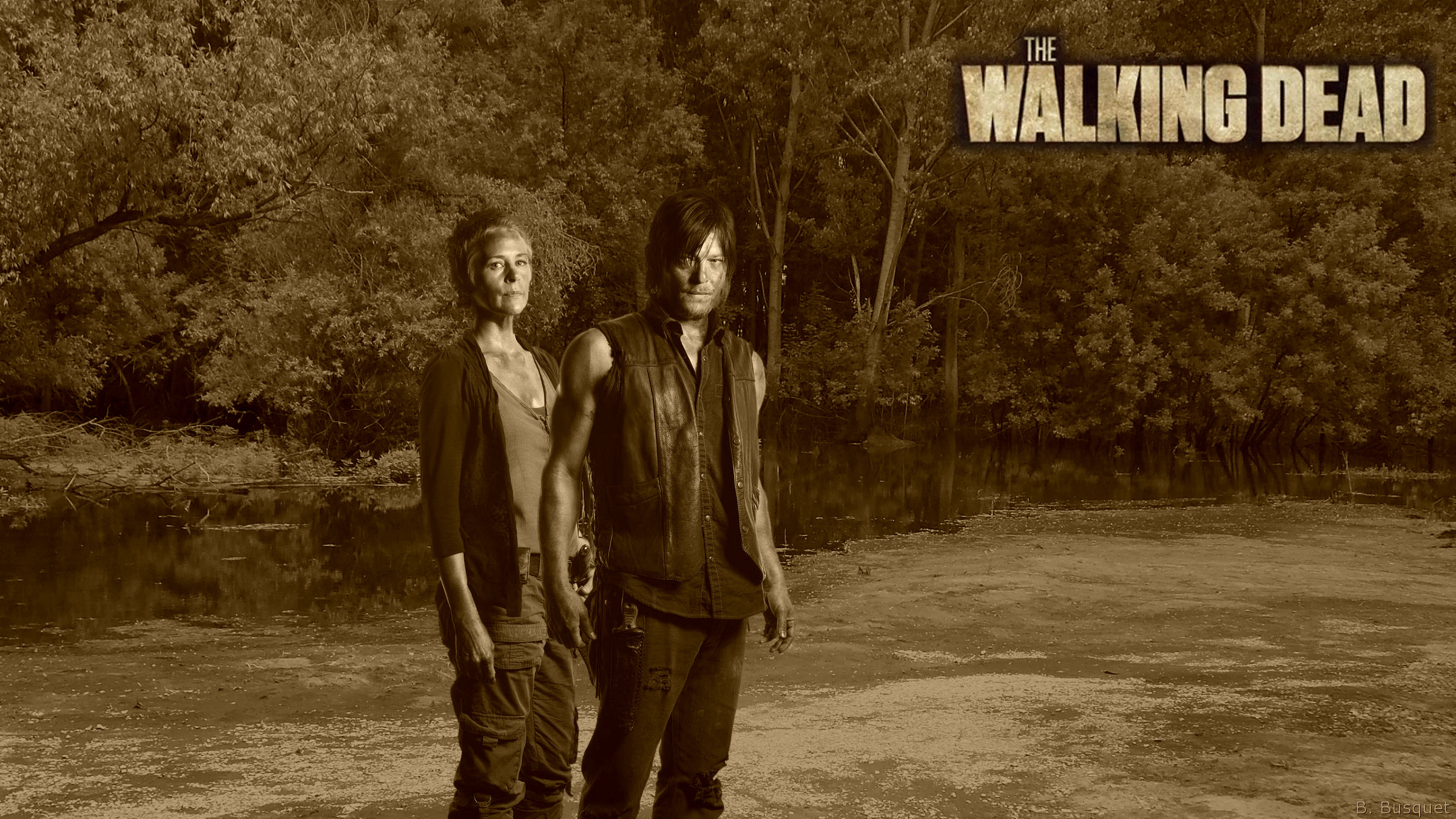 Daryl Dixon The Walking Dead Barbaras Hd Wallpapers