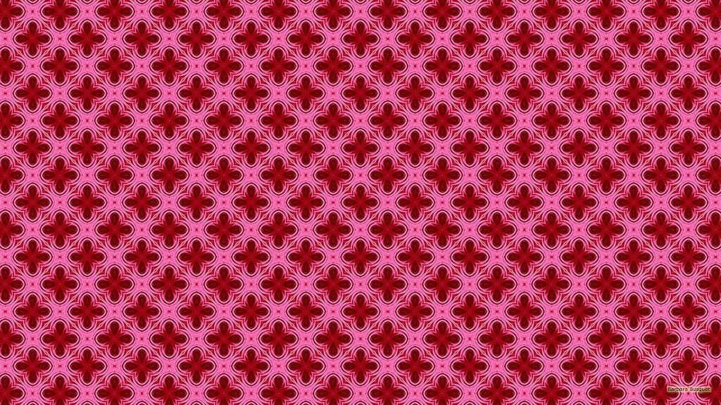 Tiles wallpaper with roses with pink leaves.