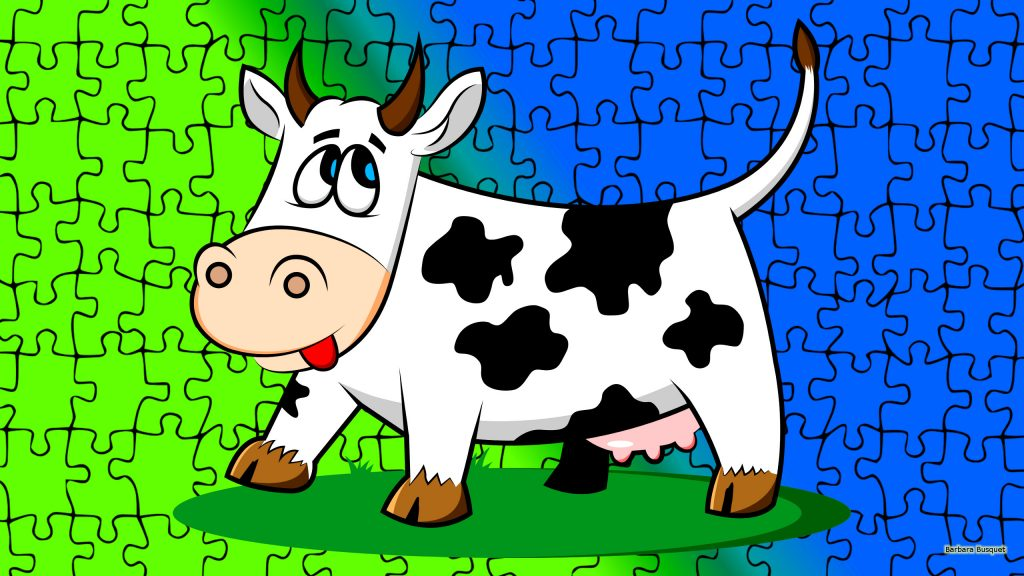 Animals wallpaper with cow