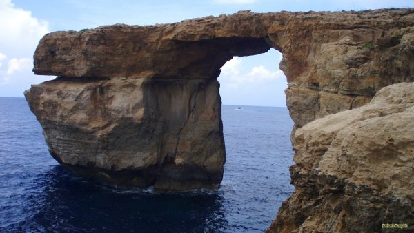The Azure Window is made of limestone.