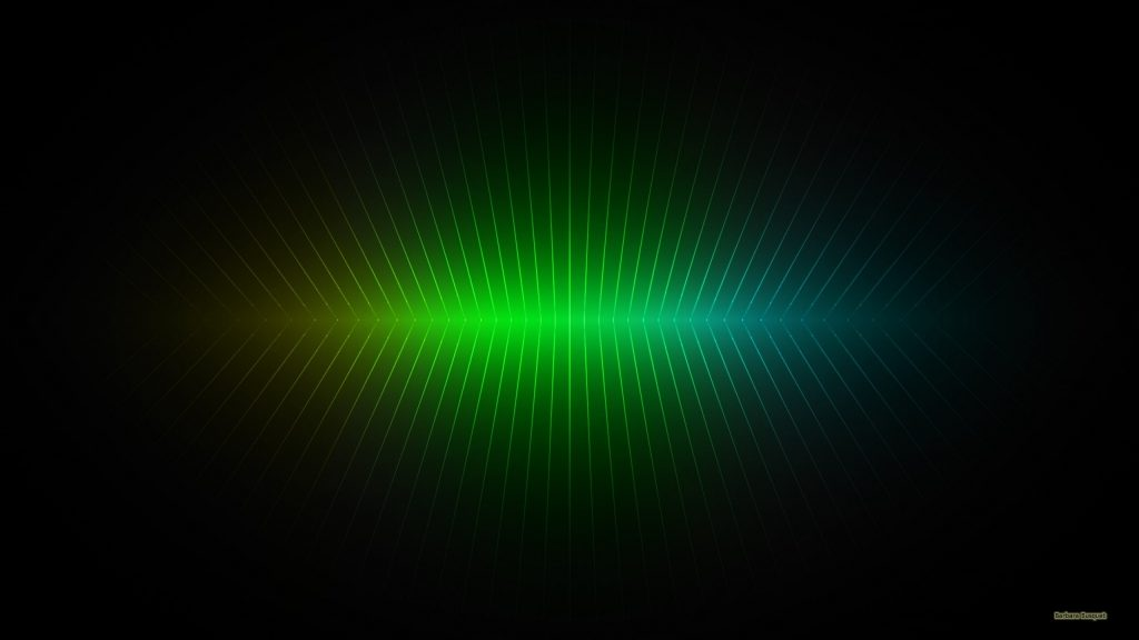 Black wallpaper with green vertical lines