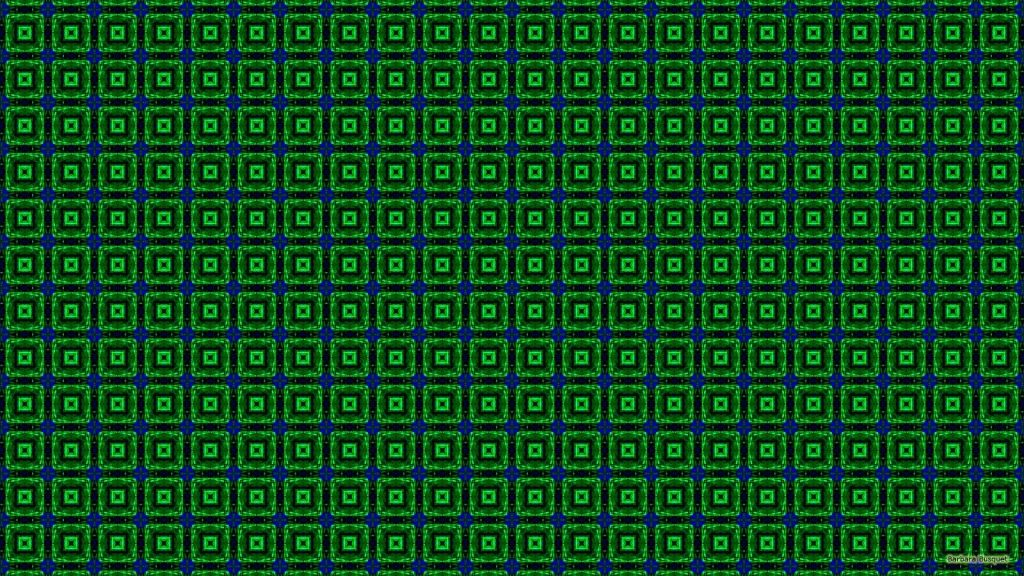 Pattern wallpaper with squares in blue and green colors.