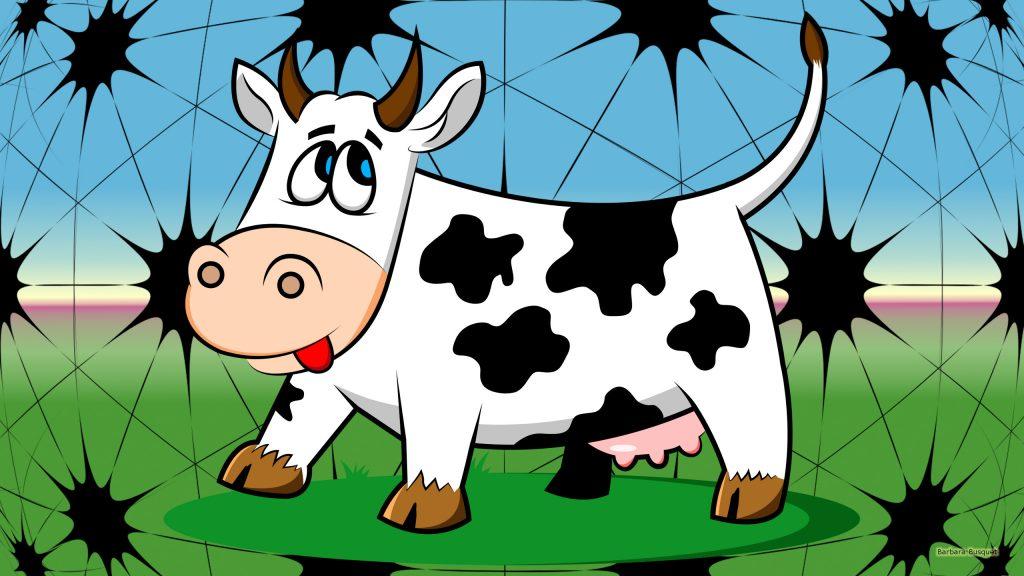 HD wallpaper cow in meadow