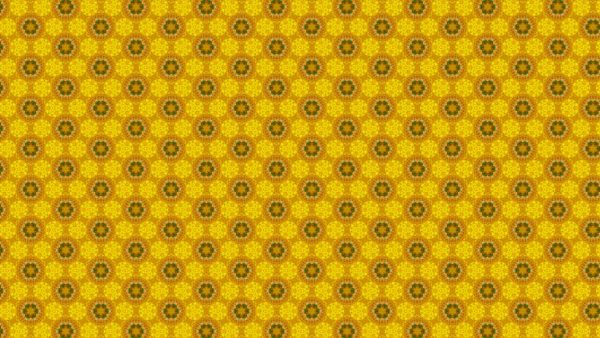 Pattern wallpaper with orange yellow flowers