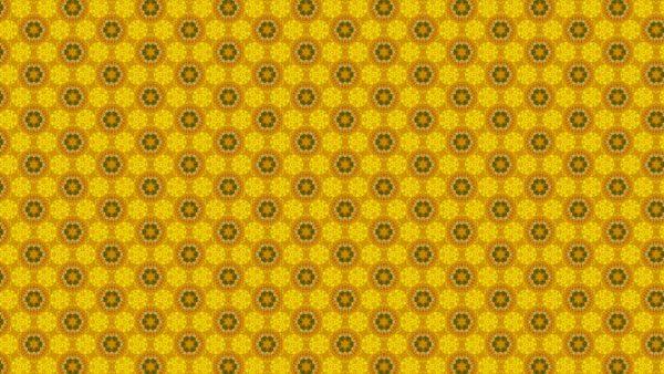 Pattern wallpaper with orange yellow flowers