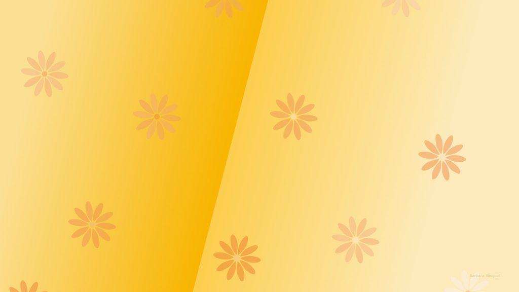 Orange wallpaper flower pattern