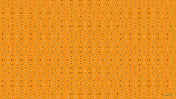 Orange with blue pattern wallpaper