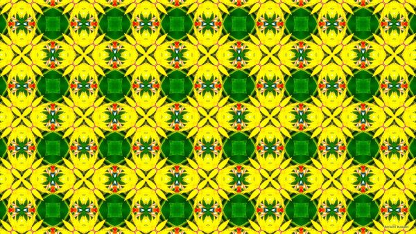 Pattern with a tropical yellow flower.