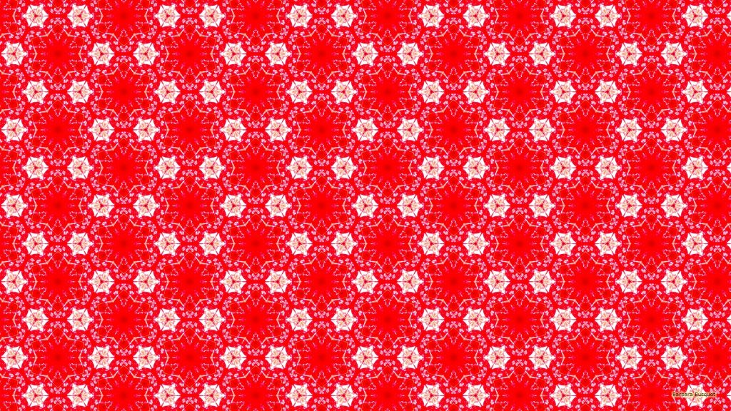 Beautiful red pattern wallpaper with white flowers.