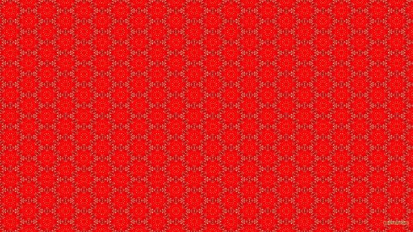 Red wallpaper with flower pattern