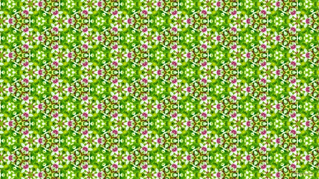 Spring pattern wallpaper with pink with flowers.