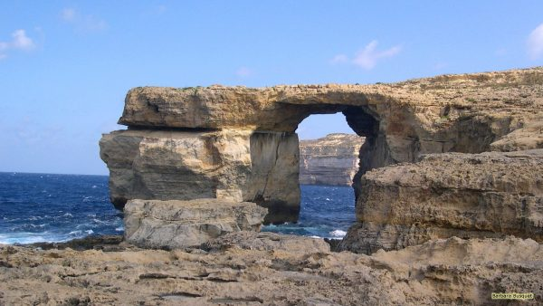 Wallpaper with Azure Window on Maltese island of Gozo