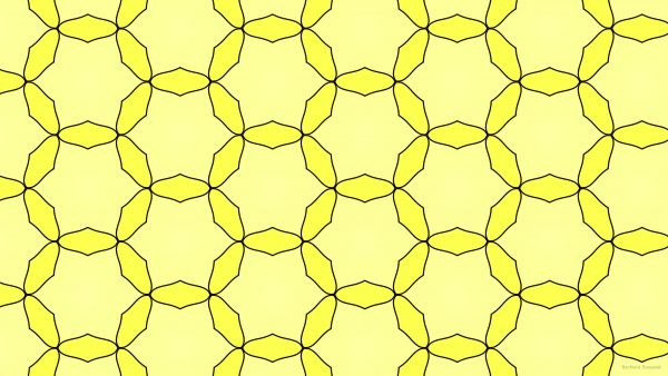 Yellow pattern wallpaper
