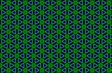 Blue with green patterns