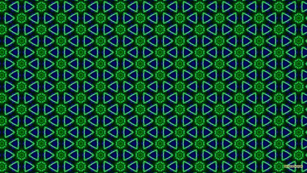 Blue green flowers pattern wallpaper