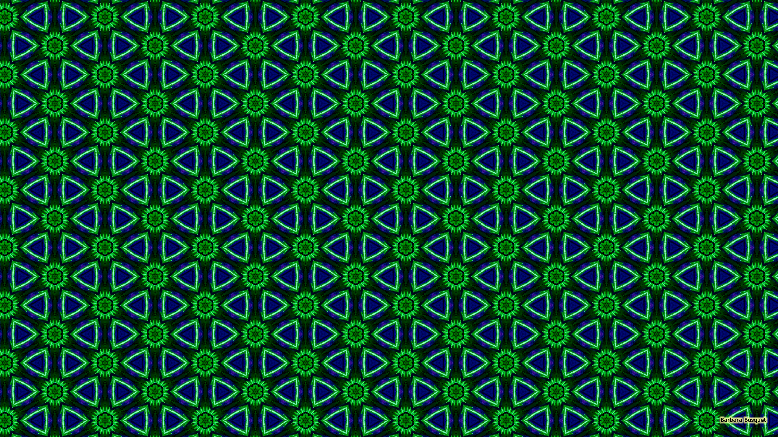 Blue With Green Patterns Barbaras Hd Wallpapers