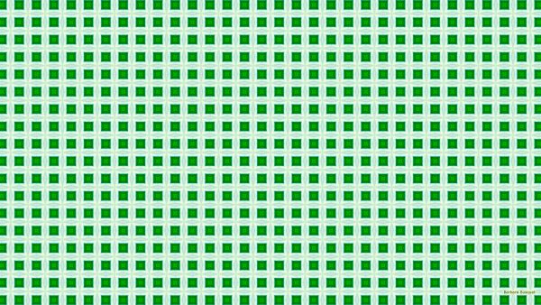 Green with gray tiles.
