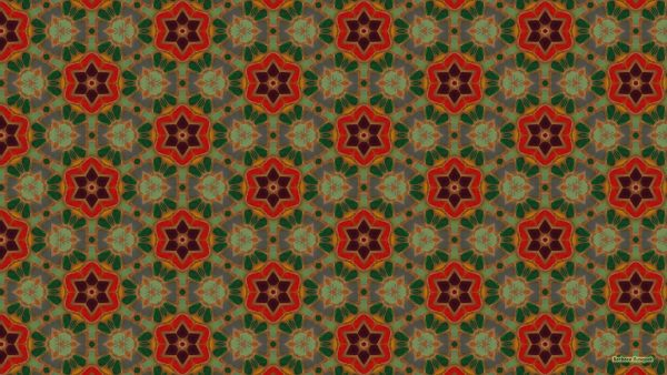 Green red mosaic wallpaper