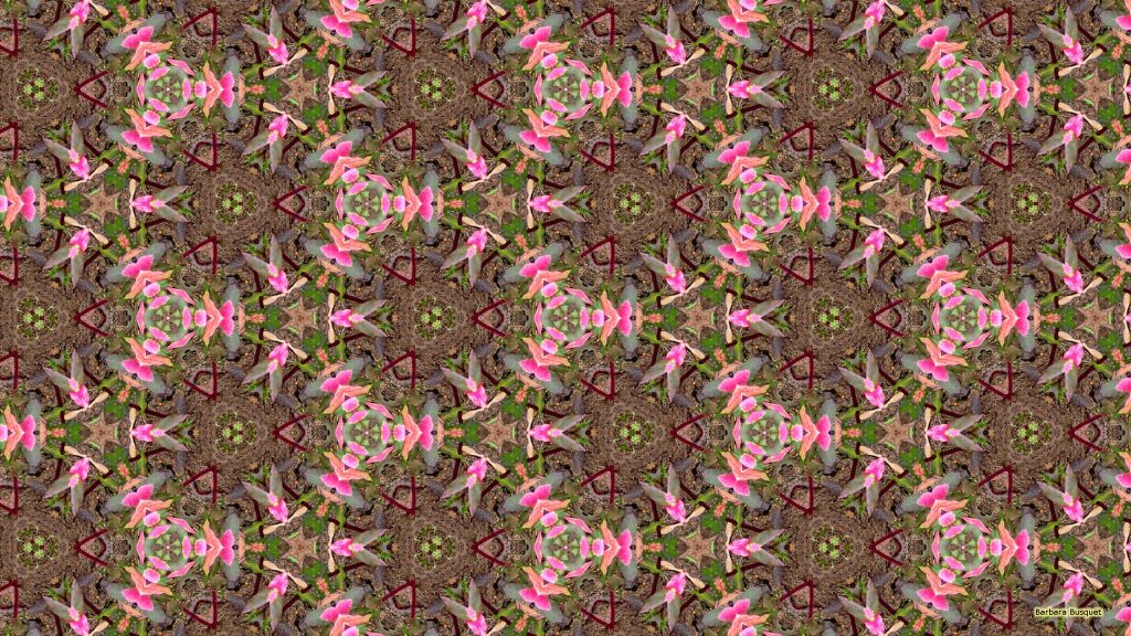 Malta wallpaper pink leaves
