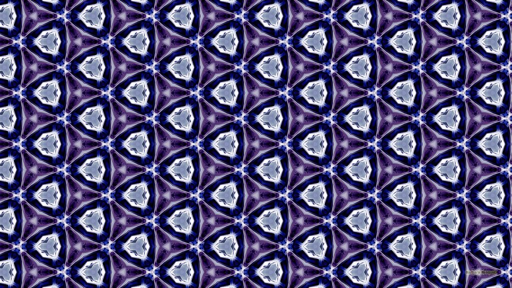 Blue and purple triangles wallpaper