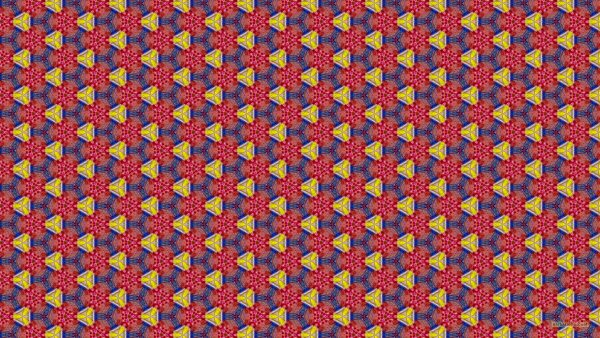 Red blue yellow triangle pattern wallpaper.