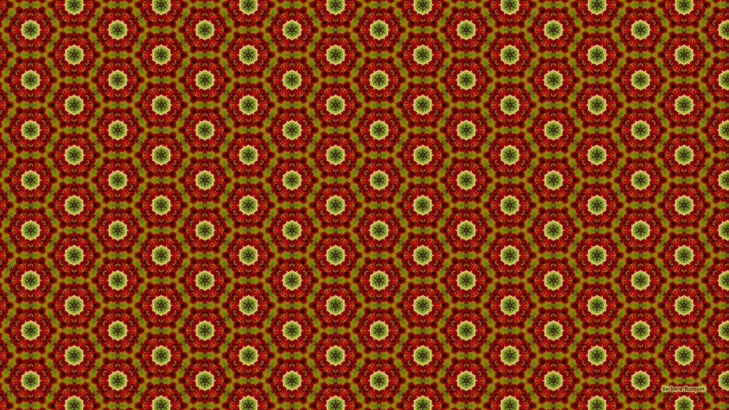 Red green hexagon pattern wallpaper.