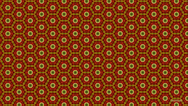 Red green hexagon pattern wallpaper.