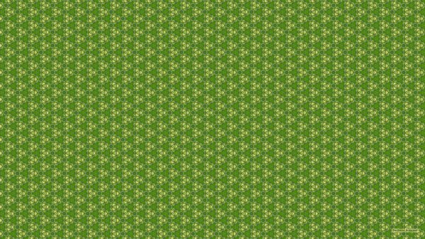 Square pattern wallpaper in green and yellow.