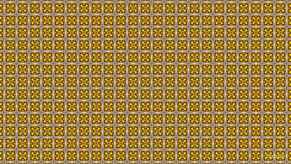 Brown with yellow squares, with a little bit red.