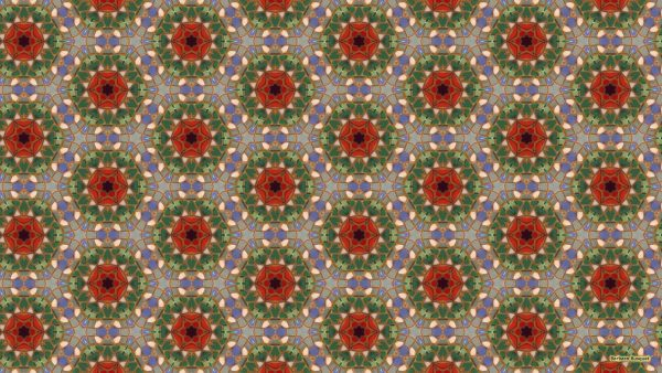 Wallpaper with mosaic