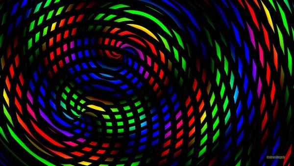 Dark Rainbow spirals wallpaper
