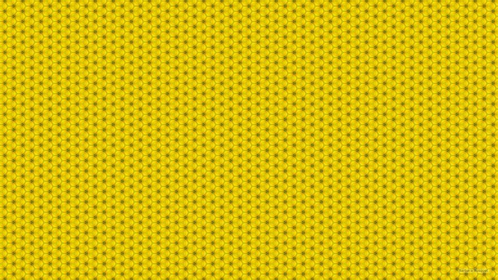 Darker yellow pattern wallpaper