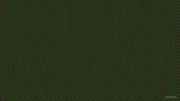 Green pattern wallpaper with pink flowers