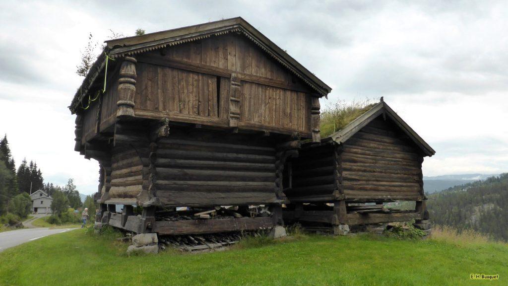 HD wallpaper log cabins near road