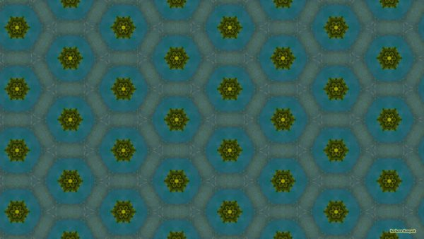 Dark blue with green pattern wallpaper