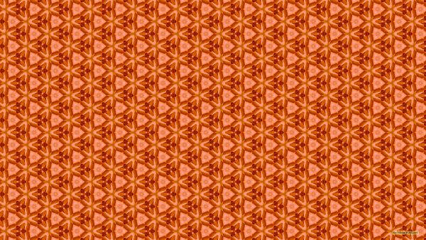 Orange triangle pattern wallpaper