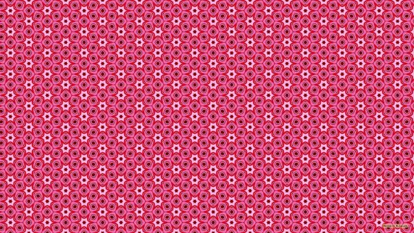 Pink pattern wallpaper with squares and stars