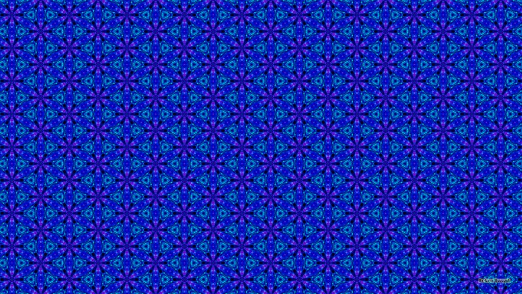 Purple blue pattern background with triangles