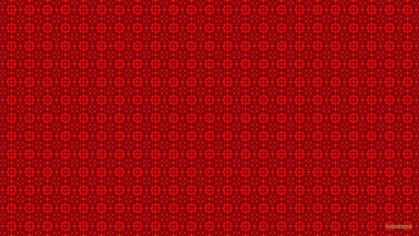Red wallpaper with squares and dots