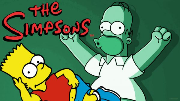 The Simpsons wallpaper with Homer and Bart