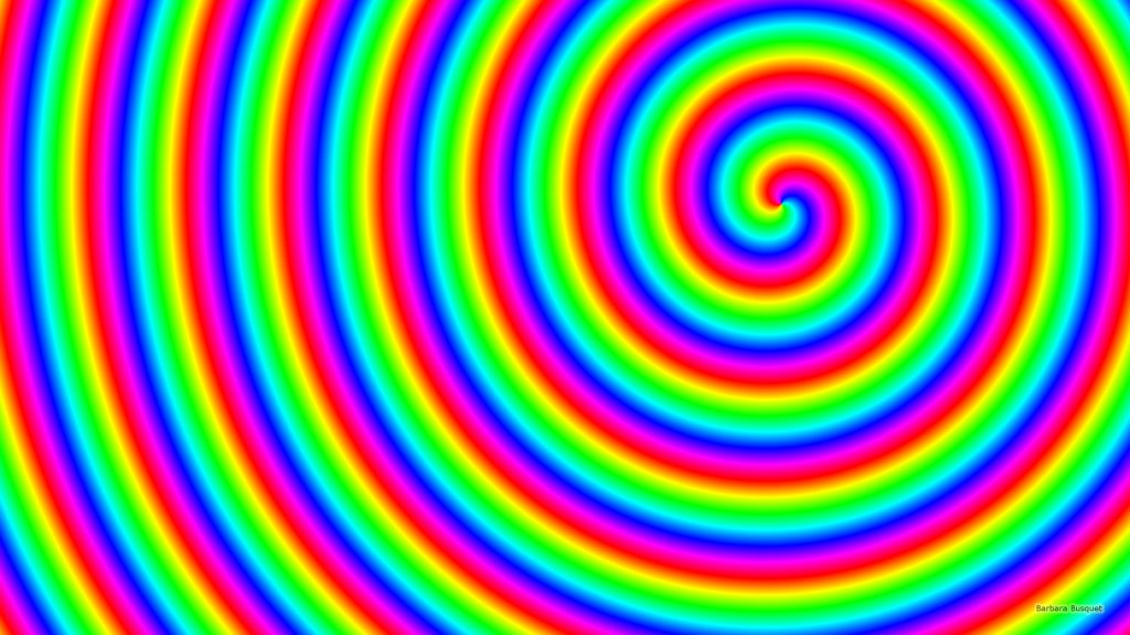 Spiral wallpaper in rainbow colors