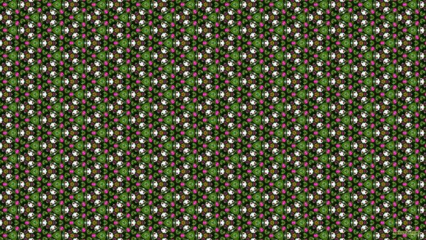 Triangle wallpaper with smalll flowers