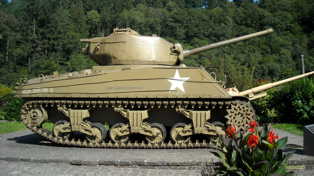 USA tank in Luxembourg