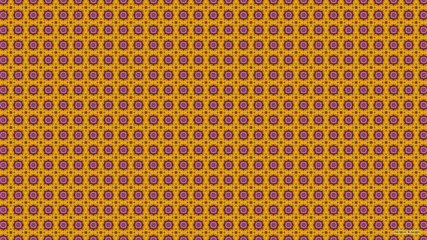 Yellow pink pattern wallpaper