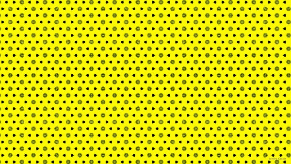 Yellow wallpaper with black shapes